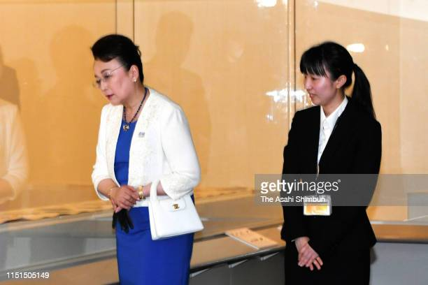 Princess Nobuko of Mikasa visits the Kagawa Museum on May 24, 2019 in Takamatsu, Kagawa, Japan.