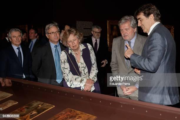 Princess Norberta of Liechtenstein and Minister of Culture Inigo Mendez de Vigo attend the 'Rubens Painter of sketches' inauguration at El Prado...