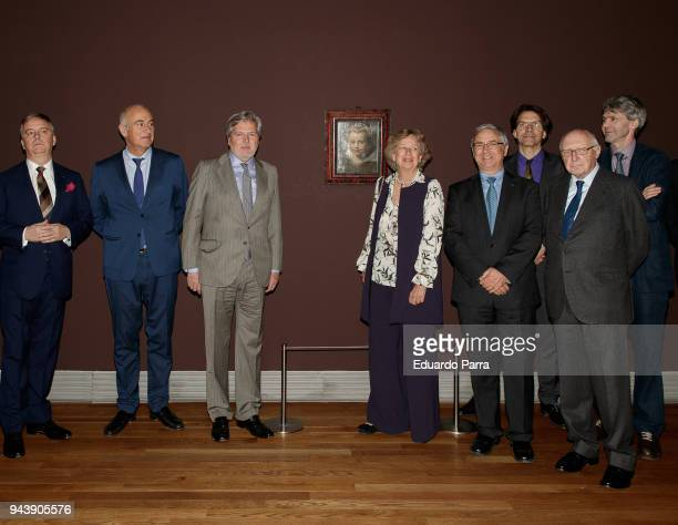 Princess Norberta of Liechtenstein and Minister of Culture Inigo Mendez de Vigo attend the 'Rubens Painter of sketches' inauguration at El Prado...