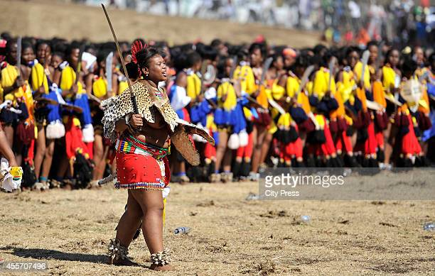 Princess Nqobangothando at the annual reed dance at eNyokeni Royal Palace on September 6 2014 in Nongoma South Africa The Reed dance is a colourful...