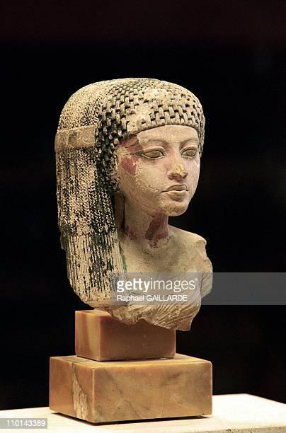 Princess of Akhenaton's family at Louvre Museum in Paris France on December 17 1997