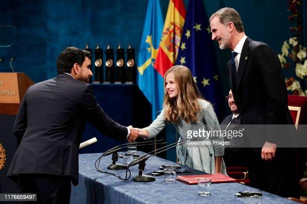 Princess of Asturias Award for Internacional Cooperation 2019 Salman Khan Princess Leonor of Spain King Felipe VI of Spain during the Asturias Awards...