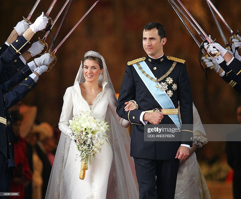 SPAIN-ROYALS-FELIPE-LETIZIA-ALMUDENA-WEDDING : News Photo
