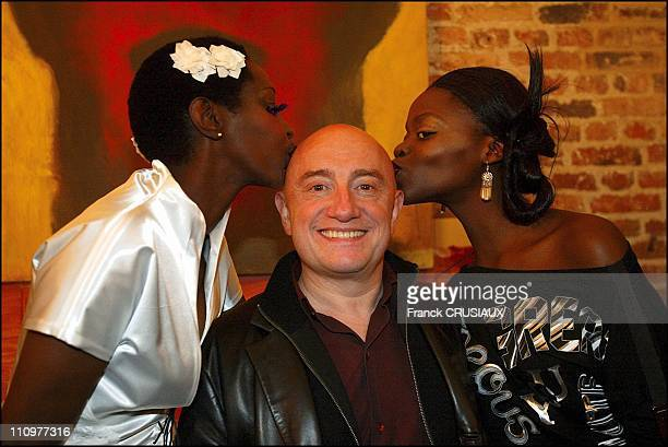 Princess Of Burundi Esther Kamatari Michel Blanc in Lille France on October 16 2003