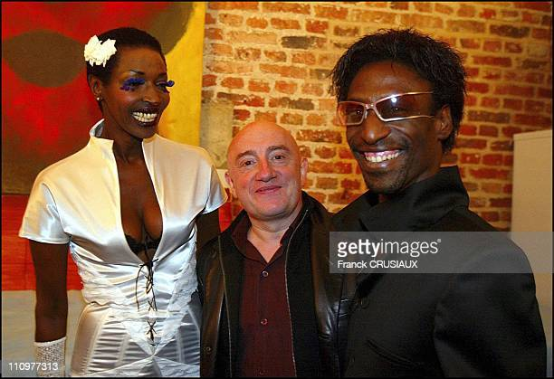 Princess Of Burundi Esther Kamatari Michel Blanc Senegalese Designer Alphonse Sene in Lille France on October 16 2003