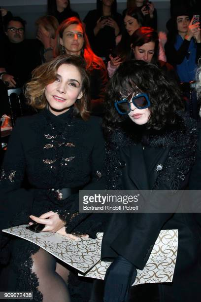 Princess of Savoy, Clotilde Courau and Isabelle Adjani attend the Elie Saab Haute Couture Spring Summer 2018 show as part of Paris Fashion Week on...