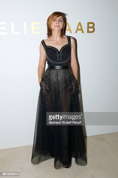 Princess of Savoy Clotilde Courau attends the Elie Saab Haute Couture Fall Winter 2018/2019 show as part of Paris Fashion Week on July 4 2018 in...