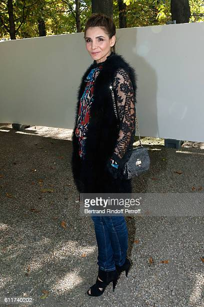 Princess of Savoy Clotilde Courau attends the Elie Saab show as part of the Paris Fashion Week Womenswear Spring/Summer 2017 on October 1 2016 in...