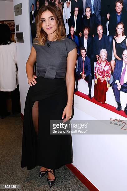 Princess of Savoy Clotilde Courau attends 'Vivement Dimanche' French TV Show at Pavillon Gabriel on September 11 2013 in Paris France