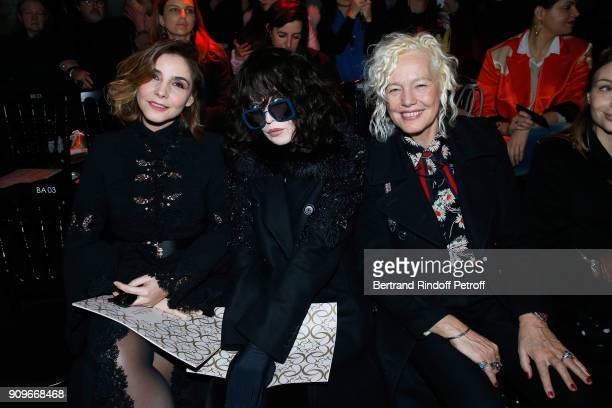 Princess of Savoy Clotilde Courau Isabelle Adjani and Ellen von Unwerth attend the Elie Saab Haute Couture Spring Summer 2018 show as part of Paris...