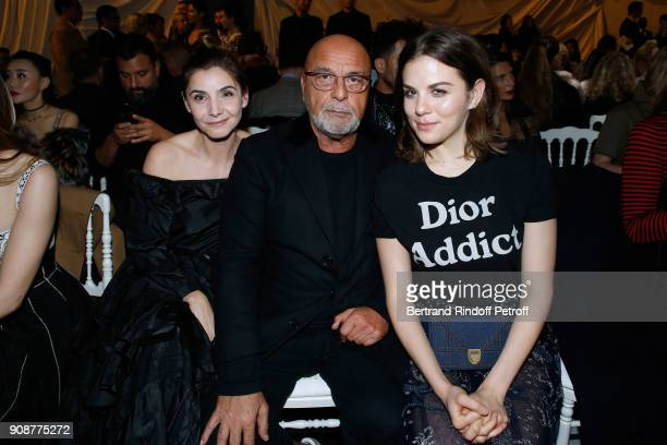 Princess of Savoy Clotilde Courau JeanBaptiste Mondino and Morgane Polanski attend the Christian Dior Haute Couture Spring Summer 2018 show as part...