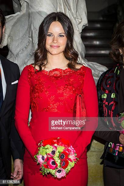 Princess of Sofia of Sweden attends a formal gathering at the Royal Swedish Academy of Fine Arts on February 19, 2016 in Stockholm, Sweden.