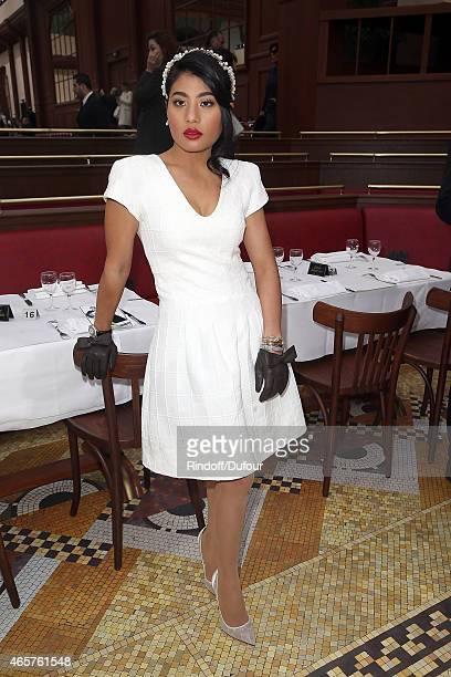 Princess of Thailand Sirivannavari Nariratana attends the Chanel show as part of the Paris Fashion Week Womenswear Fall/Winter 2015/2016 at Grand...
