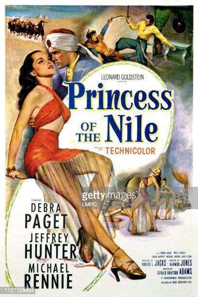 Princess Of The Nile poster Debra Paget 1954