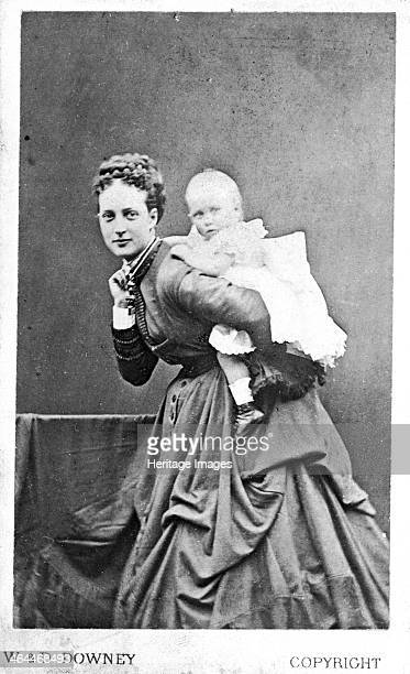 Princess of Wales and one of her sons possibly the future King George V, 1867-8.