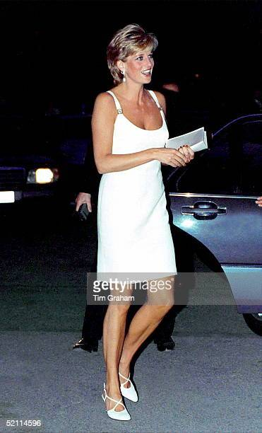 Princess Of Wales Arriving At Concert In Italy To Raise Money For Bosnian Children.
