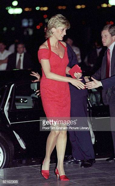 Princess Of Wales Arriving For A Dinner In Argentina [right Wearing Red Tie] Paul Ridout Bodyguard
