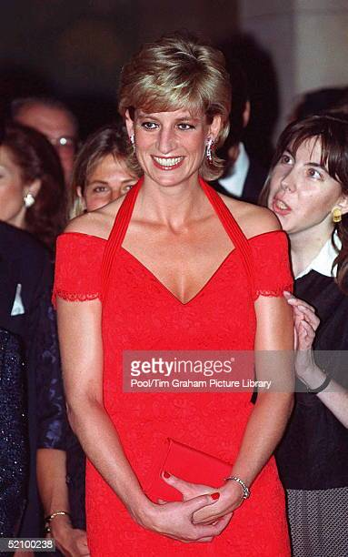 Princess Of Wales Attending A Dinner Hosted By Alpi [association For The Struggle Against Infant Paralysis]