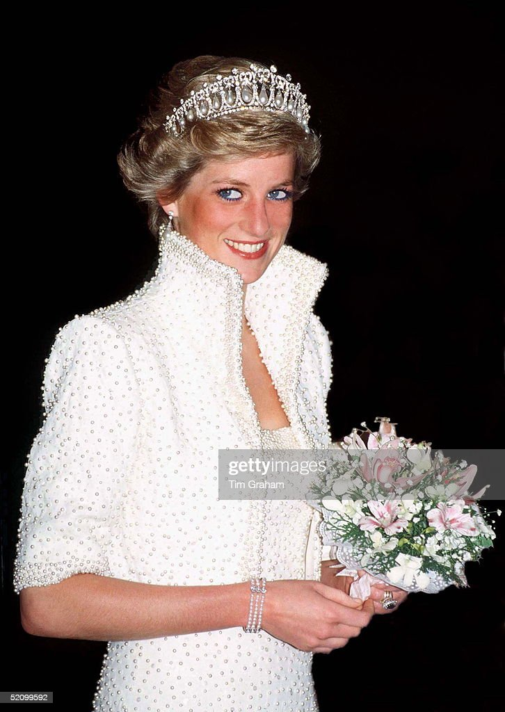 Princess Of Wales In Hong Kong Wearing An Outfit Described As The Elvis Look Designed By Fashion Designer Catherine Walker. Tour Dates 7-10 November.