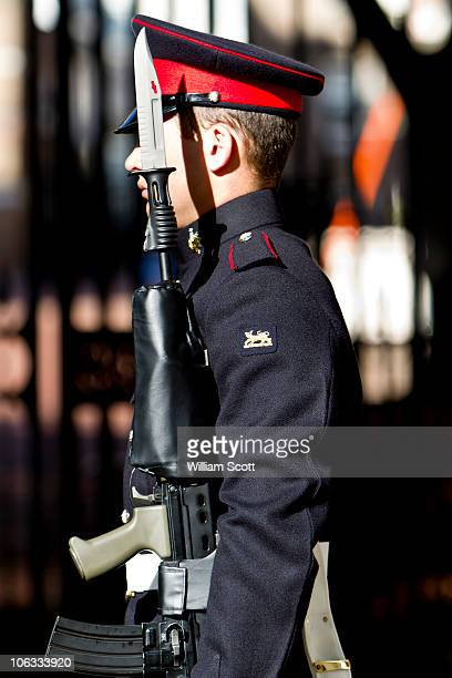 2 Princess of Wales Royal Regiment sentry in London