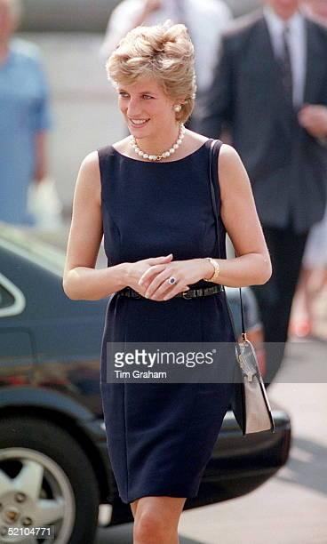 Princess Of Wales Visits Kashinkaya Hospital In Moscow.