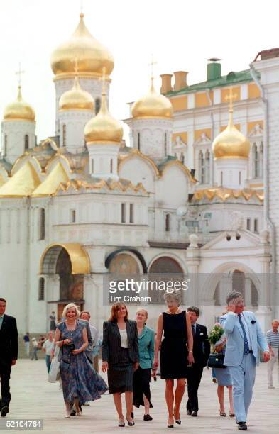 Princess Of Wales Visits The Kremlin In Moscow.