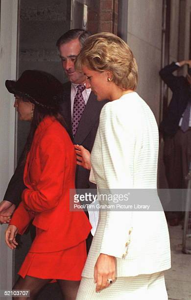Princess Of Wales With Aileen Getty The 36yearold Second Child Of Billionaire Art Patron Jpaul Getty Jnr Who Is One Of The World's Longest Surviving...
