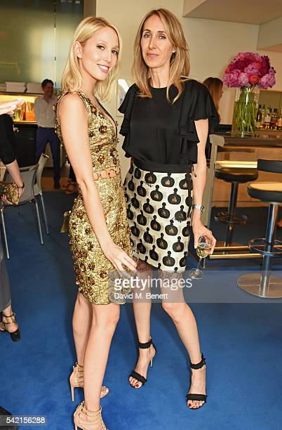 Princess Olympia of Greece and Karina de Brabant Brignone attend a private dinner hosted by Michael Kors to celebrate the new Regent Street Flagship...
