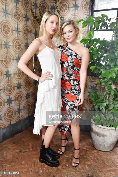Princess Olympia of Greece and Olivia Holt attend Lynn Hirschberg Celebrates W Magazine's It Girls With Dior at AOC on January 6 2018 in Los Angeles...