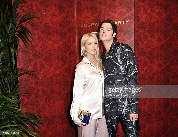 Princess Olympia of Greece and Peter Brandt Jr attend the Dolce Gabbana pyjama party at 5th Avenue Boutique on March 15 2016 in New York City