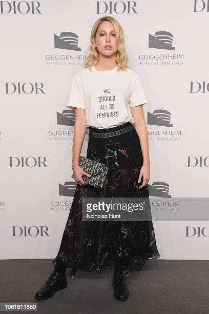 Princess Olympia of Greece attends the 2018 Guggenheim International Gala PreParty made possible by Dior at Solomon R Guggenheim Museum on November...