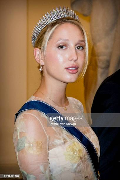 Princess Olympia of Greece during the gala banquet on the occasion of The Crown Prince's 50th birthday at Christiansborg Palace Chapel on May 26 2018...