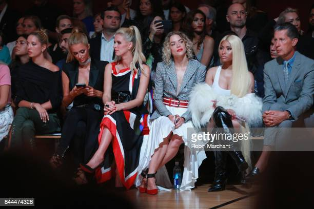 Princess Olympia of Greece Paris Hilton Nicky Hilton Rothschild Jaime King Nicki Minaj and Stefano Tonchi attend the Monse fashion show during New...