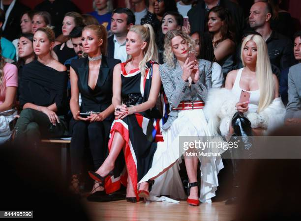 Princess Olympia of Greece Paris HiltonNicky Hilton Rothschild Jaime Kingand Nicki Minaj attend the Monse fashion show during New York Fashion Week...