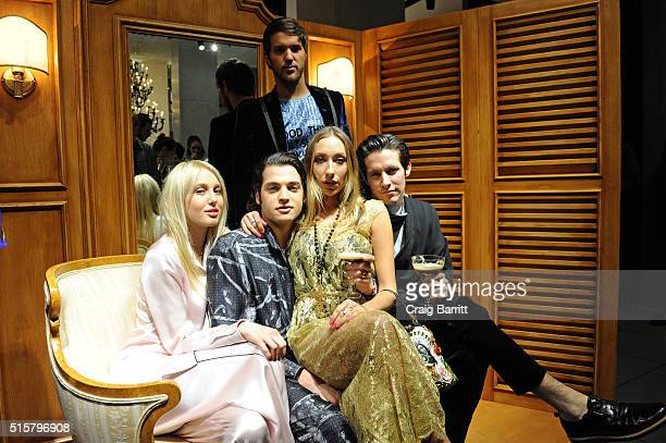 Princess Olympia of Greece Peter Brandt Jr Gaia Matisse and guests attend Dolce Gabbana pyjama party at 5th Avenue Boutique on March 15 2016 in New...