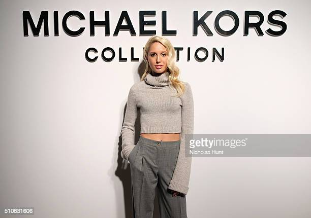 Princess Olympia of Greece poses backstage at the Michael Kors Fall 2016 Runway Show during New York Fashion Week The Shows at Spring Studios on...