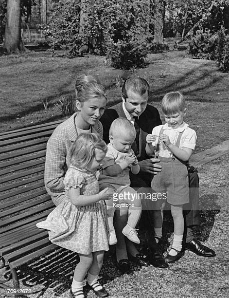 Princess Paola of Belgium and Prince Alfred of Belgium with their children Princess Astrid of Belgium Prince Laurent of Belgium and Prince Philippe...