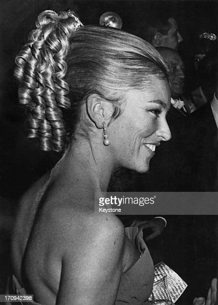 Princess Paola of Belgium at a reception in Luxembourg 23rd October 1967