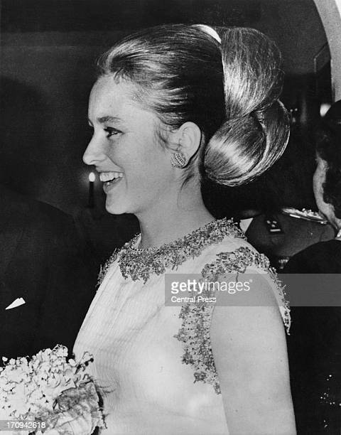 Princess Paola of Belgium attends a banquet of the BelgaItalian Chamber of Commerce Brussels 24th April 1964