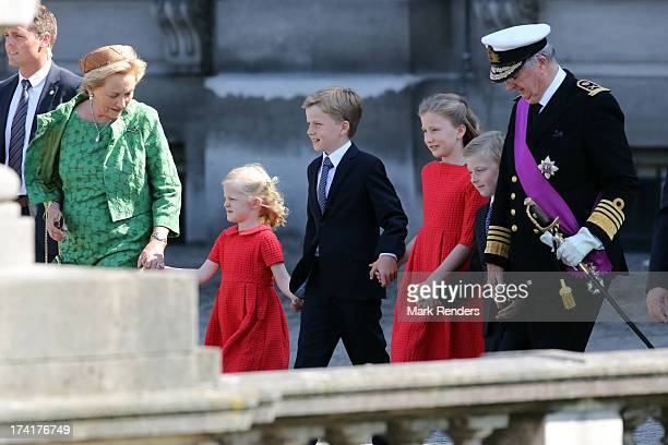 Princess Paola of Belgium Princess Eleonore of Belgium Prince Gabriel of BelgiumPrincess Elisabeth of Belgium Prince Emmanuel of Belgium and King...