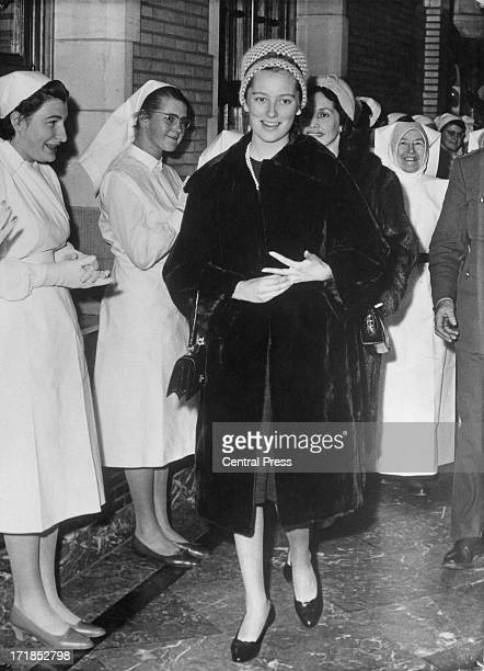 Princess Paola of Belgium visits pupils at a medical school in Belgium 21st December 1959 The people of Belgium are delighted at the recent...