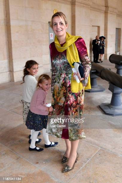Princess Philomena d'Orleans and her daughters attend the Wedding of Prince JeanChristophe Napoleon and Olympia Von ArcoZinneberg at Les Invalides on...