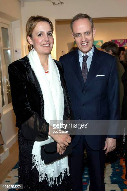 Princess Philomena d'Orleans and her husband Prince Jean d'Orleans Count of Paris during the exhibition the Princes Et Princesses d'Orleans Une...