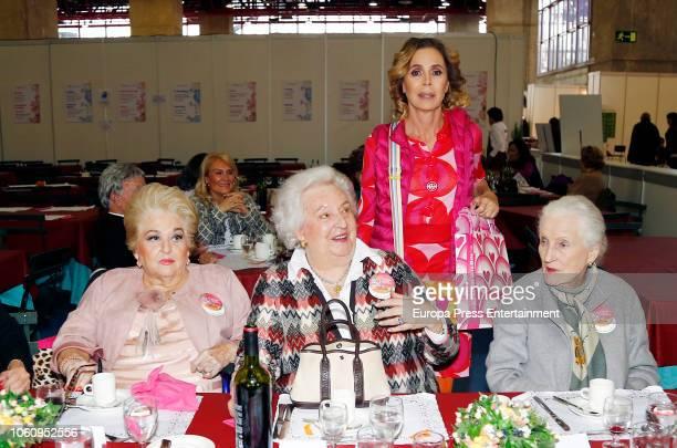 Princess Pilar de Borbon Agatha Ruiz de la Prada and Cuqui Fierro attend the charity market 'Rastrillo Nuevo Futuro' on November 10 2018 in Madrid...