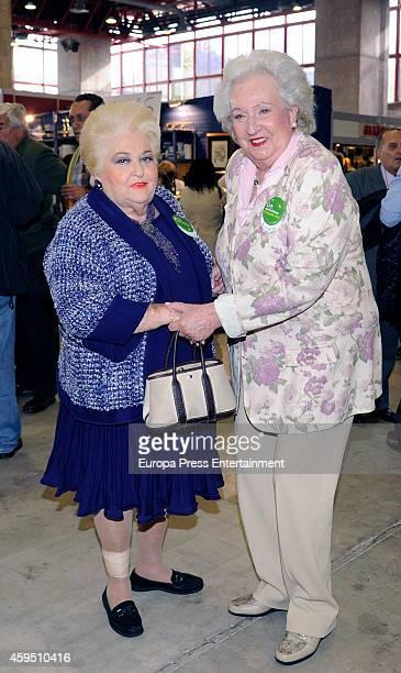 Princess Pilar de Borbon and Cuqui Fierro attend 'Rastrillo Nuevo Futuro' on November 21 2014 in Madrid Spain
