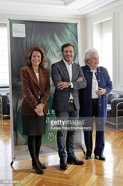 Princess Pilar de Borbon and singer Juan Pena present 'Rastrillo Nuevo Futuro 2014' at Telefonica headquarters on November 17 2014 in Madrid Spain
