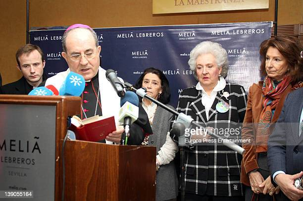 Princess Pilar de Borbon attends 'Rastrillo Nuevo Futuro' at Los Lebreros Melia Hotel on February 15 2012 in Seville Spain