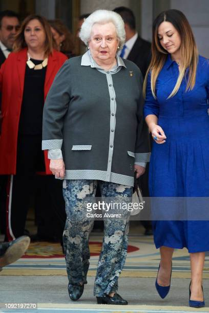 Princess Pilar de Borbon attends the National Sports Awards 2017 at the El Pardo Palace on January 10 2019 in Madrid Spain