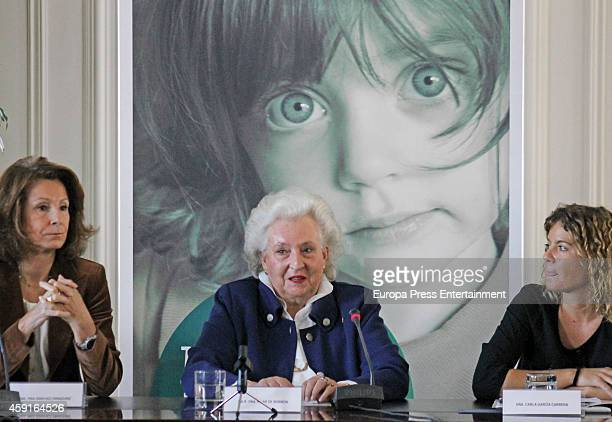 Princess Pilar de Borbon presents 'Rastrillo Nuevo Futuro 2014' at Telefonica headquarters on November 17 2014 in Madrid Spain