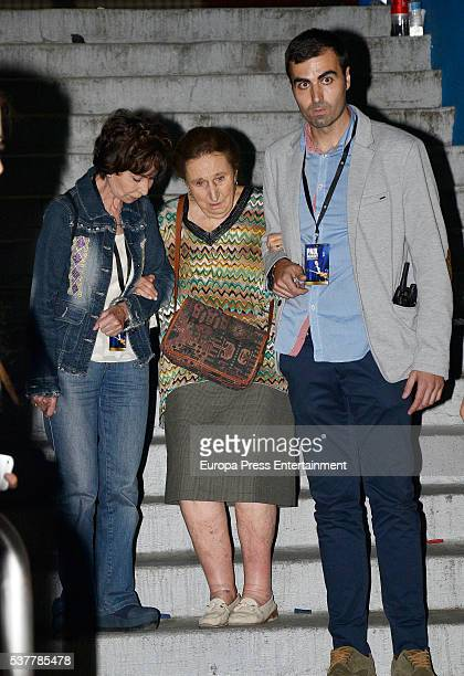 Princess Pilar of Span attends Paul McCartney's concert at the Vicente Calderon stadium at Vicente Calderon Stadium on June 2 2016 in Madrid Spain